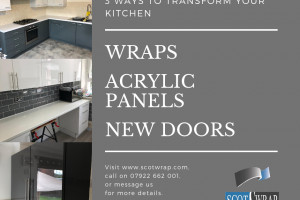 Offer - SCOTWRAP - Update your tired and aging looking kitchen units on a budget !